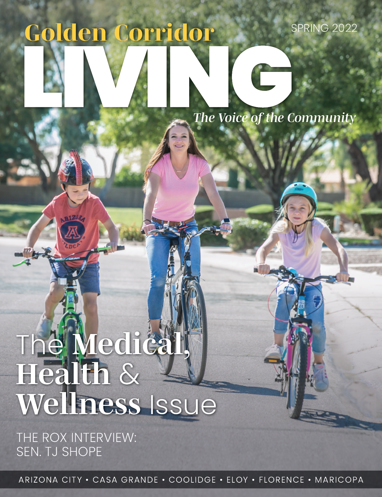 Golden Corrifor LIVING Magazine