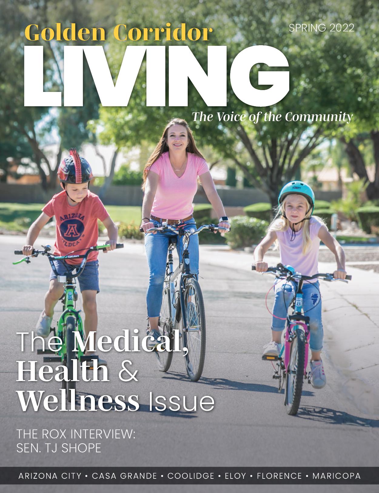 Golden Corrifor LIVING Magazine